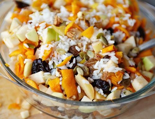 פילאף אורז עם פירות יבשים ושקדים